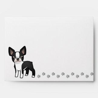 Cartoon Boston Terrier Envelope
