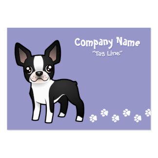 Cartoon Boston Terrier Large Business Card