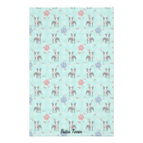 Cartoon Boston Terrier Stationery