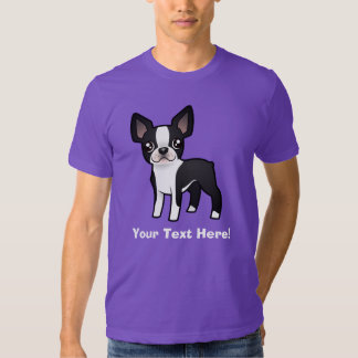 Cartoon Boston Terrier T-Shirt