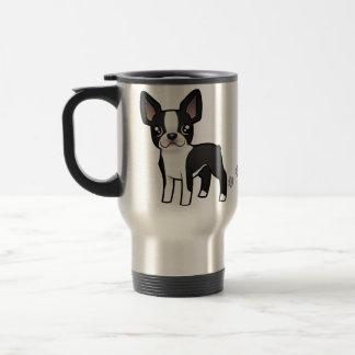 Cartoon Boston Terrier Travel Mug