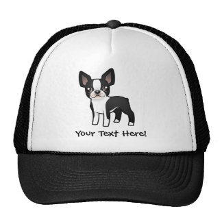 Cartoon Boston Terrier Trucker Hat