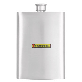 Cartoon box to be continued flask