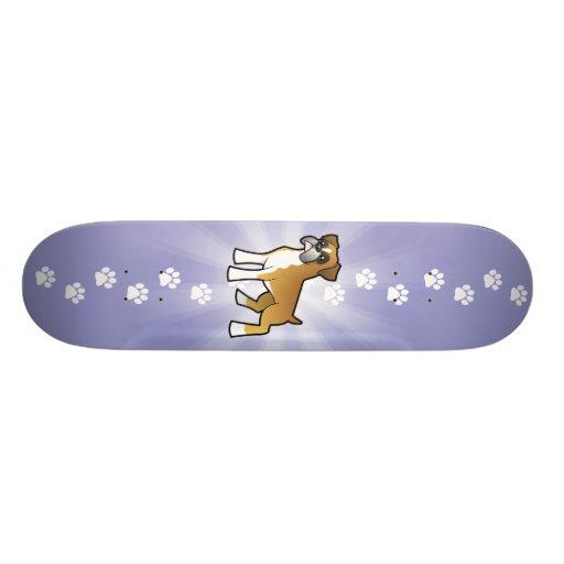 Cartoon Boxer Skate Board Deck