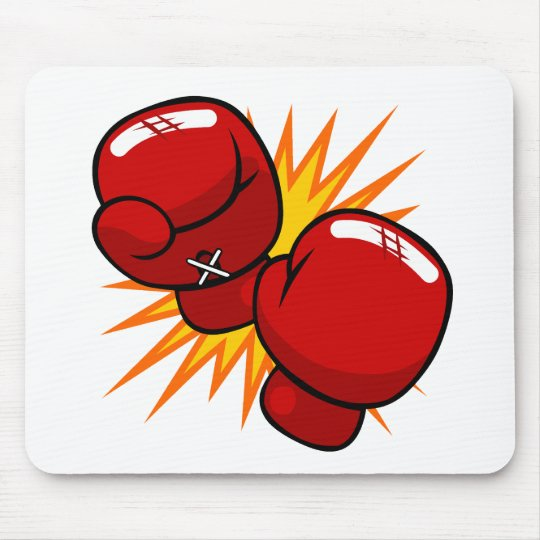 Cartoon Boxing Gloves Mouse Pad