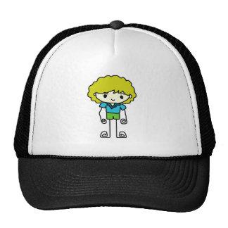 cartoon boy and girl hats