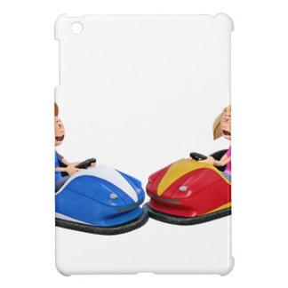 Cartoon boy and girl in Bumper Cars iPad Mini Cases