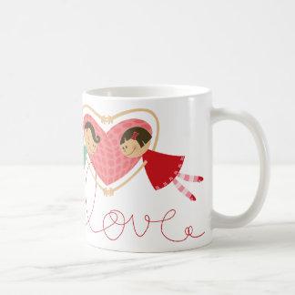 Cartoon Boy and Girl in Love Fun Valentine Day Mug