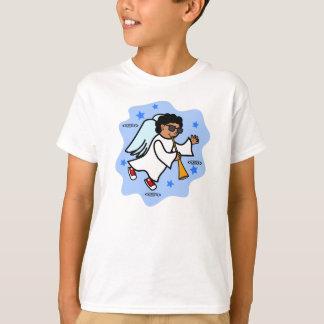 Cartoon Boy Angel Blowing Horn T-Shirt