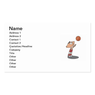 Cartoon Boy Basketball Player T-shirts and Gifts Business Card Templates