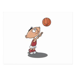 Cartoon Boy Basketball Player T-shirts and Gifts Postcard