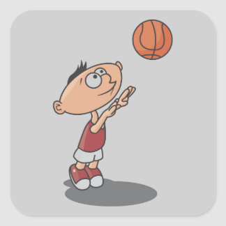 Cartoon Boy Basketball Player T-shirts and Gifts Sticker