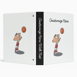 Cartoon Boy Basketball Player T-shirts and Gifts Vinyl Binders