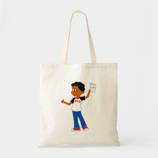 Cartoon Boy holding A+ Science Paper Tote Bag