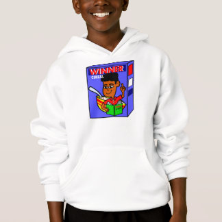 Cartoon Boy on Cereal Box for Smart Kid Hoodie