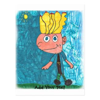 Cartoon Boy - Timmy Postcard
