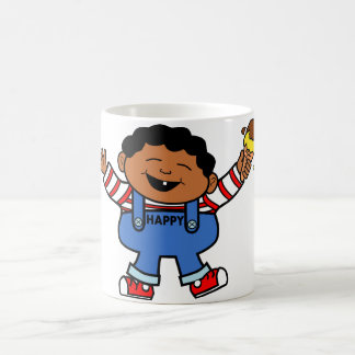 Cartoon Boy with Ice Cream in Hand Coffee Mug