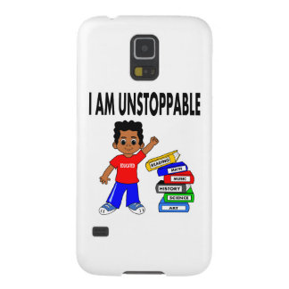 Cartoon Boy with Tall Books Case For Galaxy S5
