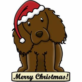 Cartoon Boykin Spaniel Christmas Ornament Cut Out