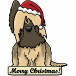 Cartoon Briard Christmas Ornament Photo Cutout