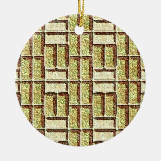 Cartoon Bricks Ceramic Ornament