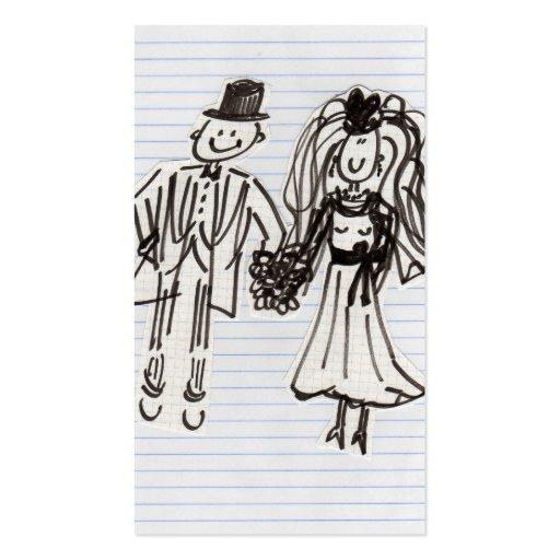 Cartoon Bride and Groom  Business Card