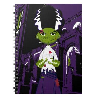 Cartoon Bride of Frankenstein Notebook
