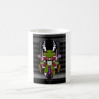 Cartoon Bride of Frankenstein on Scooter Coffee Mug