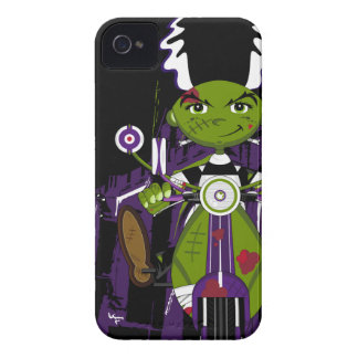 Cartoon Bride of Frankenstein on Scooter iPhone 4 Cover