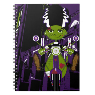 Cartoon Bride of Frankenstein on Scooter Notebook