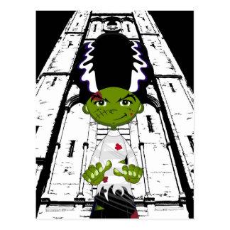 Cartoon Bride of Frankenstein Postcard