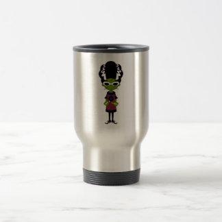 Cartoon Bride of Frankenstein Travel Mug