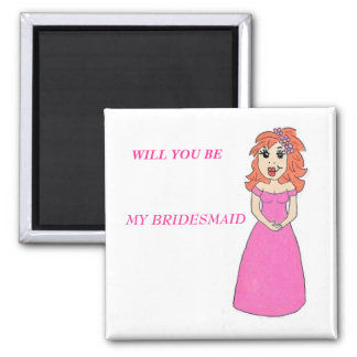 Cartoon Bridesmaid Magnet