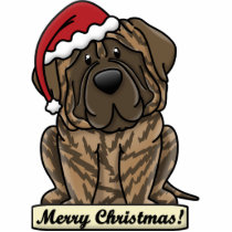 Cartoon Brindle Mastiff Statuette