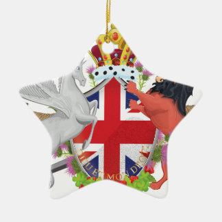 Cartoon British Royal Crest Ceramic Ornament