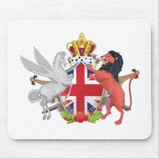 Cartoon British Royal Crest Mouse Pad