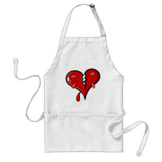 Cartoon Broken Hearted Design Adult Apron