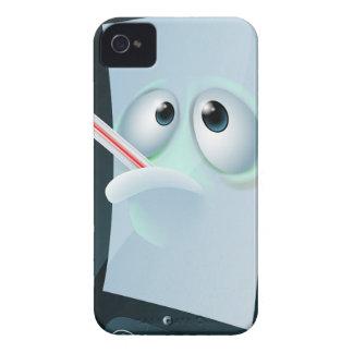 Cartoon broken mobile phone iPhone 4 cases