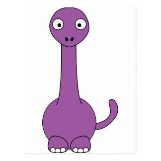 Cartoon Brontosaurus (purple) Postcard