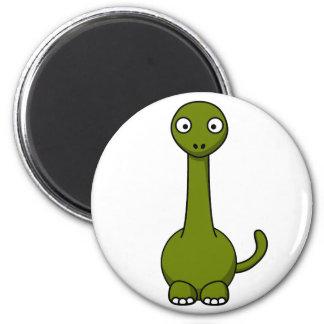 Cartoon brontosaurus refrigerator magnet
