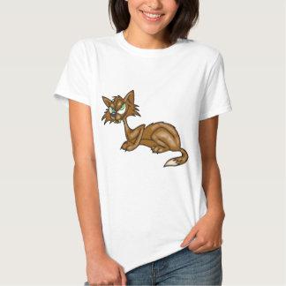 Cartoon Brown Alley Cat Shirt