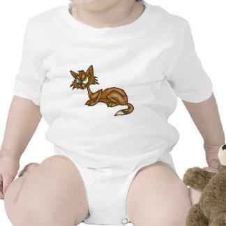 Cartoon Brown Alley Cat Tee Shirt