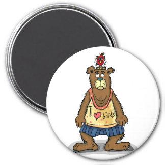 Cartoon Brown bear standing on his back feet Magnet