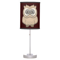 Cartoon Brown Owl Table Lamp