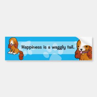 Cartoon brown puppy bumper sticker