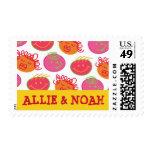 Cartoon Bubblegum Heads Twins Children Birthday Stamps