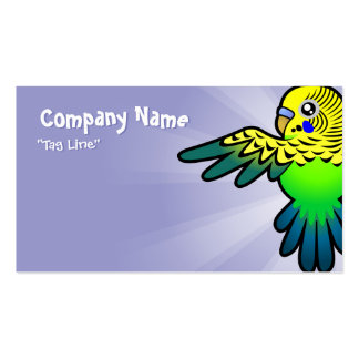 Cartoon Budgie Business Card