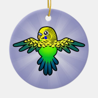 Cartoon Budgie Ceramic Ornament
