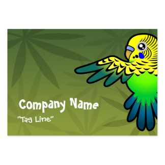 Cartoon Budgie Large Business Card