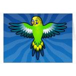 Cartoon Budgie / Parakeet Greeting Card